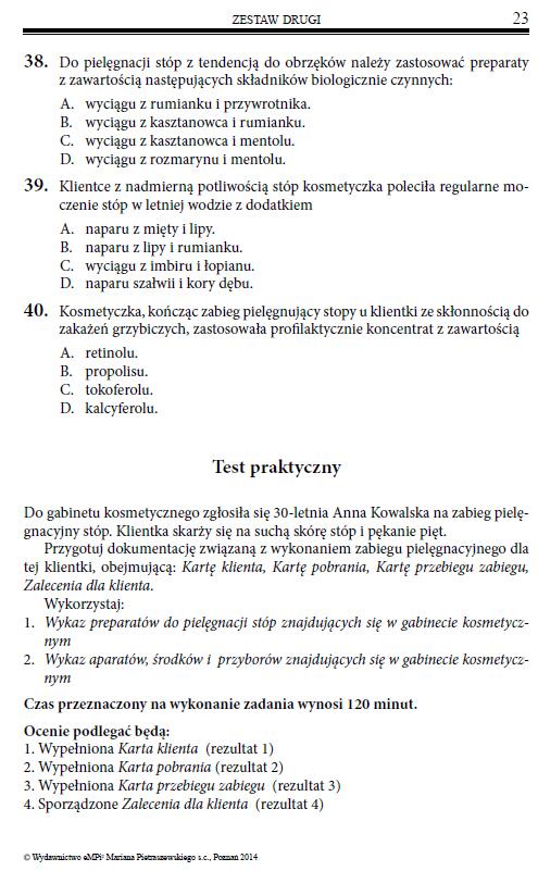 Testy Przygotowujace Do Egzaminu Z Kwalifikacji A 62 Wykonywanie